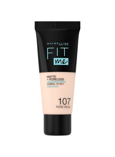 Maybelline Fit Me Matte+Poreless Fondöten - 107 Rose Beige Ten